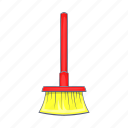 broom, brush, cartoon, cleaner, household, tidy, tool icon