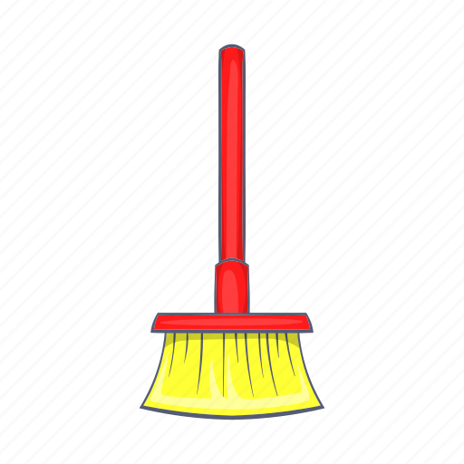 broom, brush, cartoon, cleaner, household, tidy, tool icon