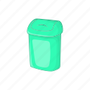 bucket, can, cartoon, garbage, plastic, rubbish, trash icon