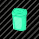 bucket, can, cartoon, garbage, plastic, rubbish, trash