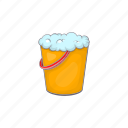 bucket, cartoon, clean, equipment, foam, tool, work icon