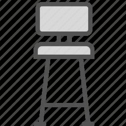 bar, chair, furniture, high, home, house icon