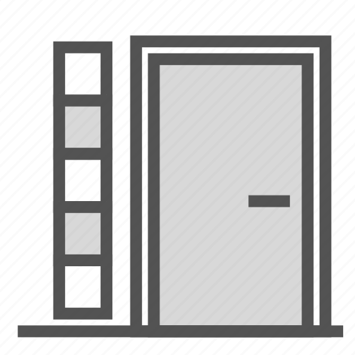 door, entrance, glass, home, house icon