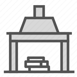 chimney, fireplace, home, house icon