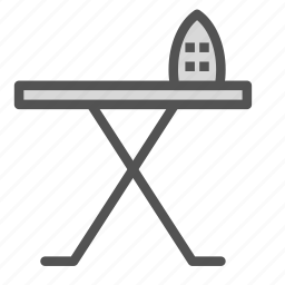 clothes, dryclean, equipment, iron, table icon
