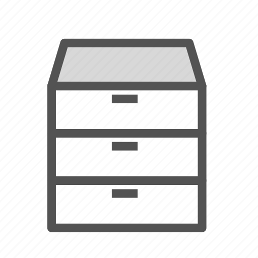 bedroom, furniture, home, house, nightstand icon