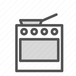 appliance, cooking, equipment, kitchen, pan, stove icon