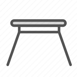 furniture, home, house, sideview, small, table icon