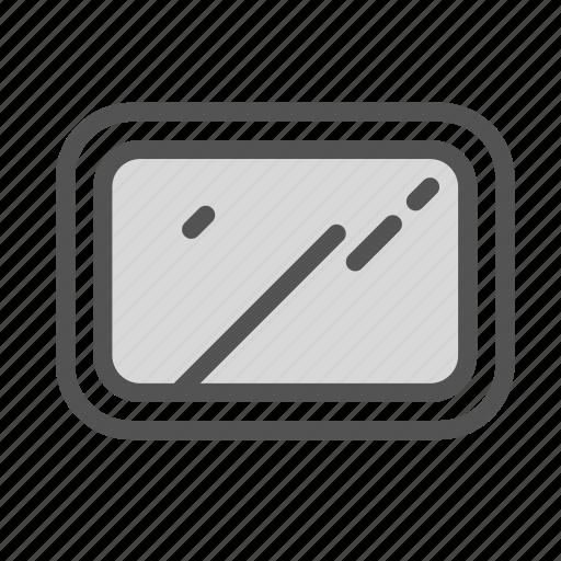 edge, modern, round, square, window icon