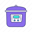 cooking, crock-pot, kitchen appliance, multi cooker, multicooker, slow cooker icon