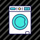 clothing, laundry, machine, wash, washer, washing, washing machine icon
