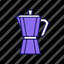 coffee, coffee maker, coffee pot, coffeemaker, kitchen appliance, machine icon