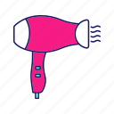 appliance, blow, dryer, electric, hair dryer, hair styling, salon icon