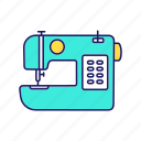 appliance, electric, machine, sewing, sewing machine, tailor, tailoring icon