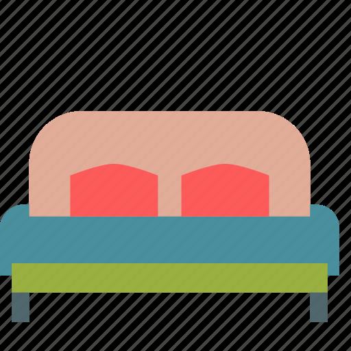 bed, bedroom, big, furniture, kingsize icon