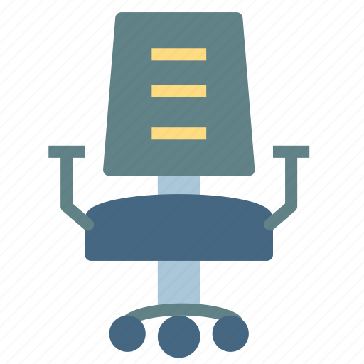 chair, desk, furniture, home, house, office icon