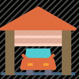 car, garaje, home, house icon