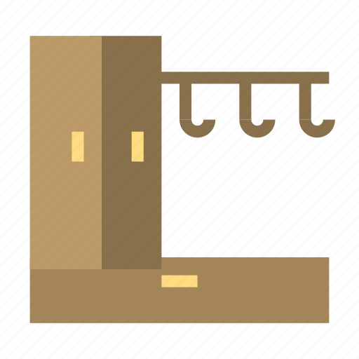 cabinet, furniture, hanger, house icon