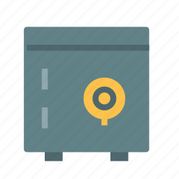 box, lock, safe, secure icon