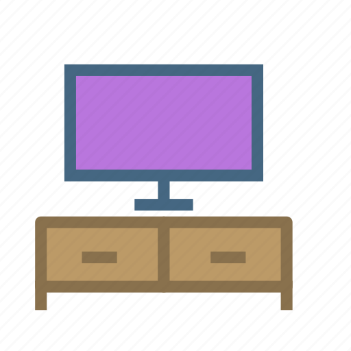 furniture, home, house, table, television, tv icon