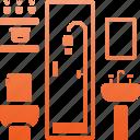 toilet, restroom, bath, shower, hygiene, bathroom, wc icon
