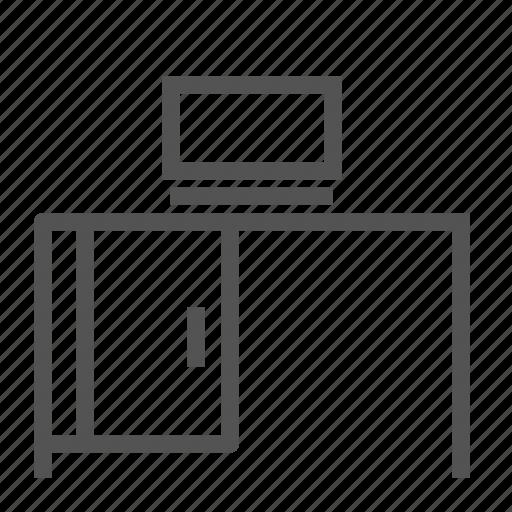computer, desk, furniture, home, office icon