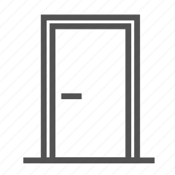 door, entrance, house icon