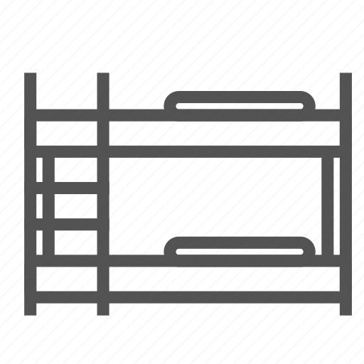 bed, bedroom, bunk, double, furniture icon