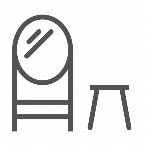chair, decoration, furniture, home, house, mirror icon