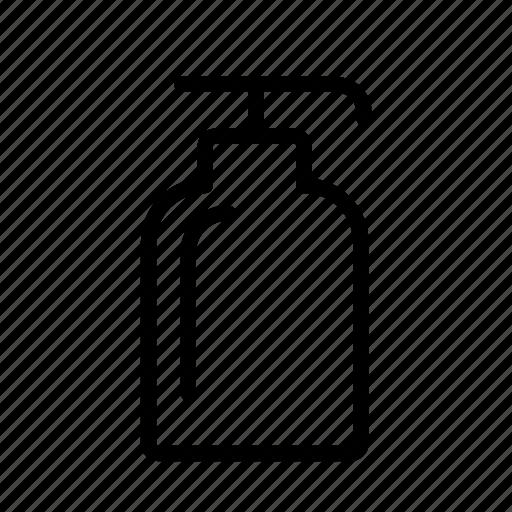 bottle, dispenser, household, soap, wash icon