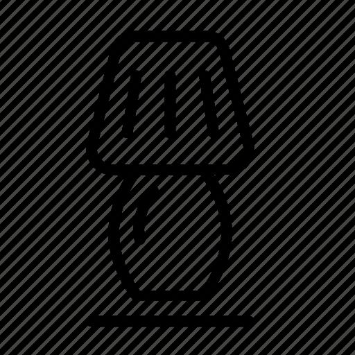 household, illuminator, lamp, light, table lamp icon