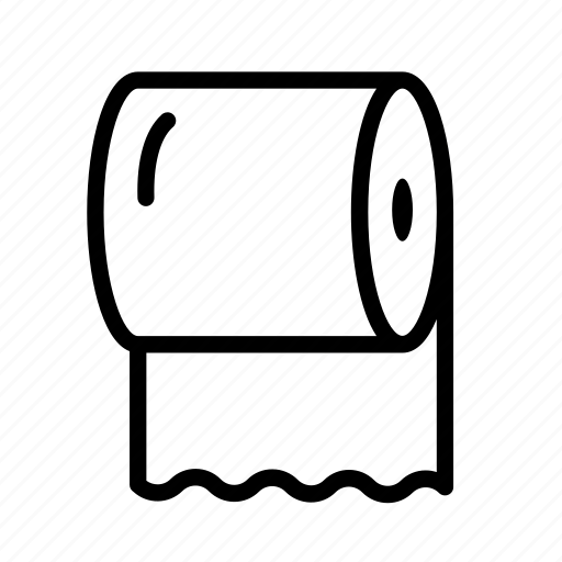 household, paper, roll, toilet, toilet paper icon
