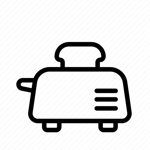 household, kitchen, oven, toast, toaster icon
