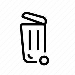 garbage, household, rubbish bin, trash, trash can icon