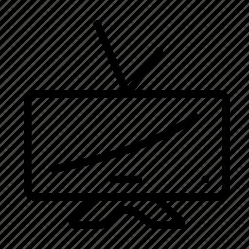 cinema, household, television, tv, tv set icon