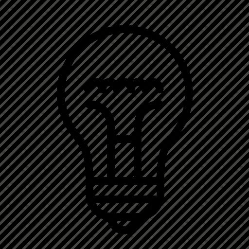 bulb, household, lamp, light, light bulb icon