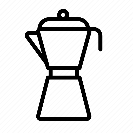 boiled, coffee, coffee pot, household, moka pot, pot icon