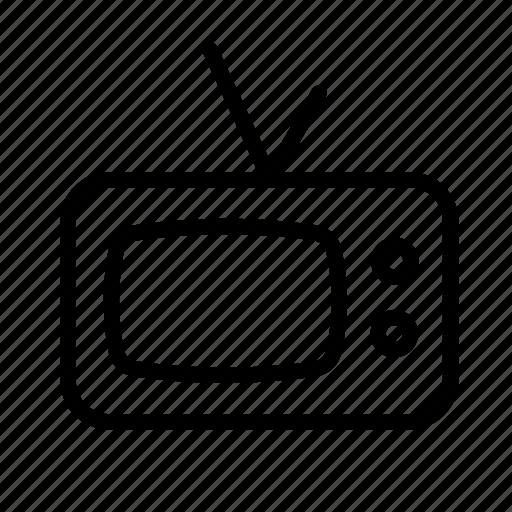 household, retro, retro tv set, television, tv, tv set icon