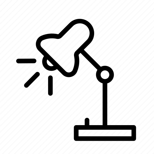 household, lamp, light, spot light, table lamp icon