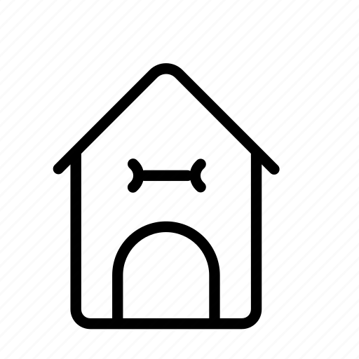 dog, dog house, domestic, house, household icon