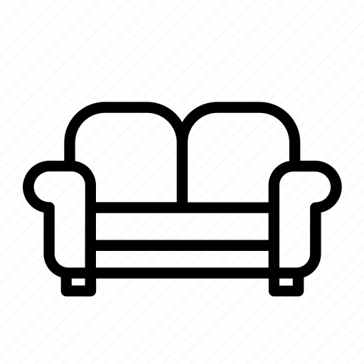 couch, furniture, household, lounge, sofa icon