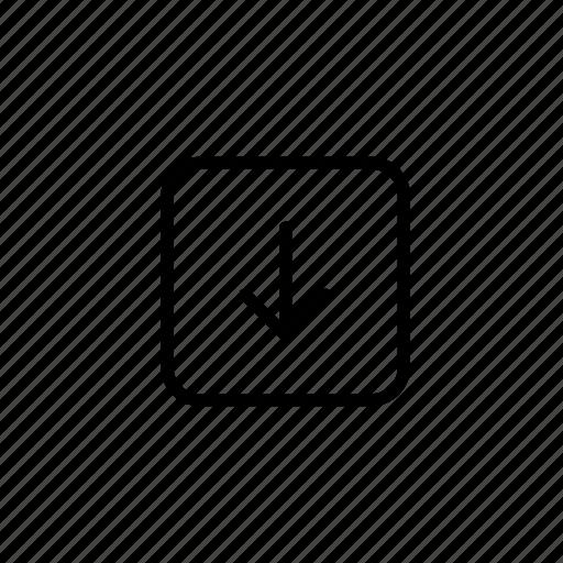 deliver, delivery, drop, drop off, dropoff, item, outline icon