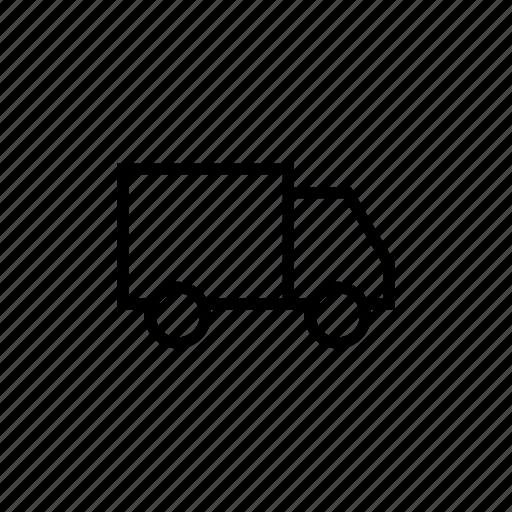 delivery, messenger, messenger02, outline, shipment, transport, truck icon