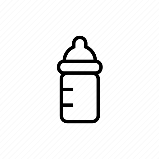 baby, babysitter, childcare, milk bottle, nanny, outline icon