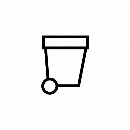 bin, garbage, outline, recycle, trash, waste icon