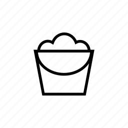 bucket, clean, housekeeping, outline, tidy, washing icon
