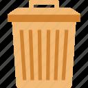 can, dustbin, trashcan, waste icon