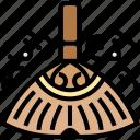 broom, floor, cleaning, sweeping, dust