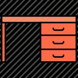 desk, office desk, office desk icon, table, table icon icon icon