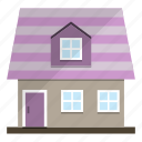 cottage, girly, home, house icon